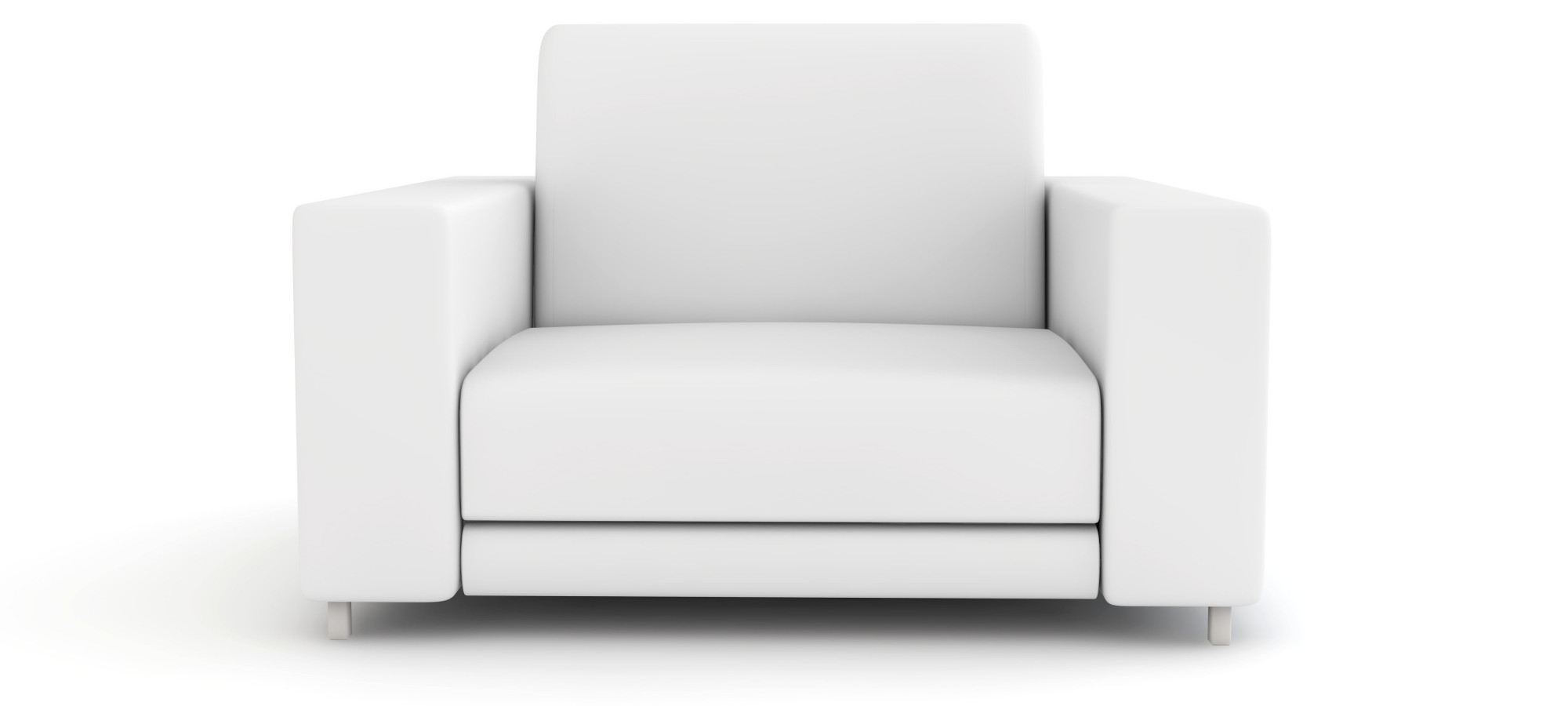 clean white sofa